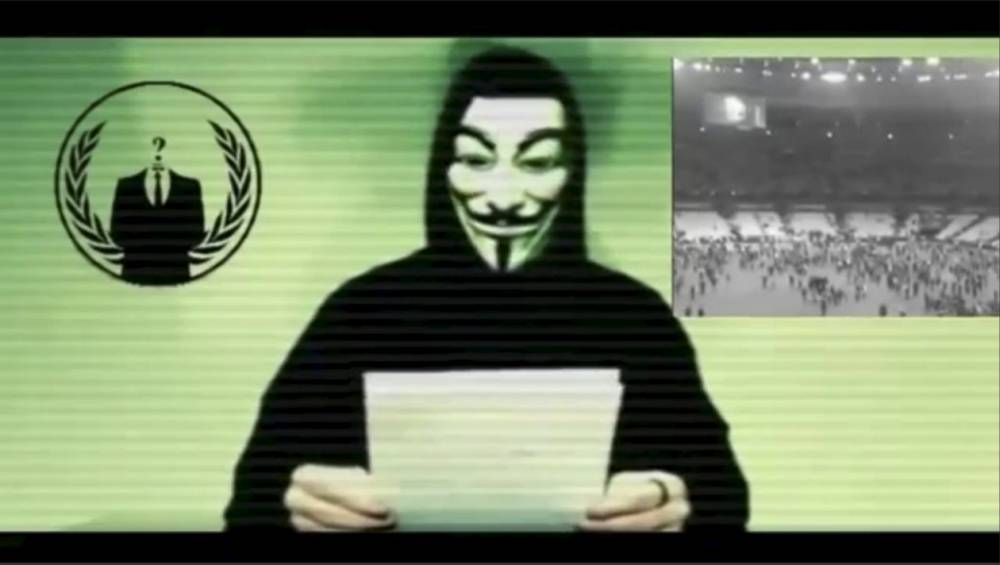 Anonymous says Isis is being protected by Silicon Valley company